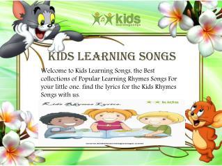 Kids Rhymes Lyrics