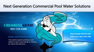 Pool Water Management from Chlorine Genie Inc.