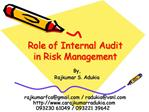 Role of Internal Audit in Risk Management