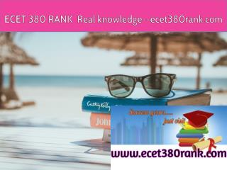ECET 380 RANK  Real knowledge--ecet380rank.com