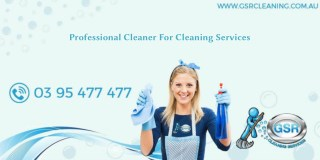 Professional Cleaner For Cleaning Services