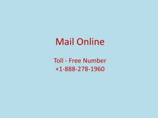 Get Best Mail Service At Mail Online  1-888-278-1960