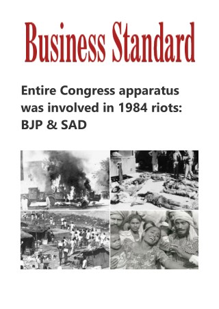 Entire Congress apparatus was involved in 1984 riots