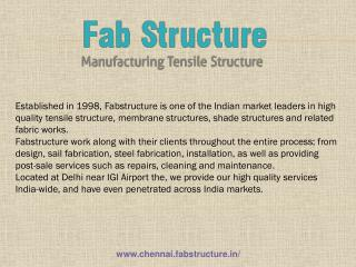 Tensile Structure In Chennai - Tensile Fabric Structure