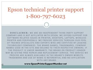 Epson printer support phone number 1-800-797-6023 Customer service