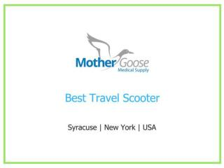 best Travel Scooters from Mother Goose Medical Supply