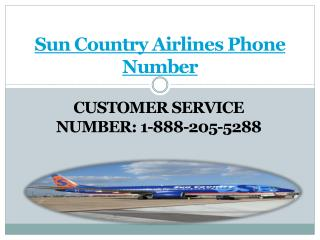 Sun Country Airlines Phone Number