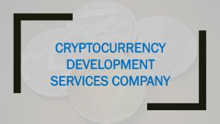 Best Cryptocurrency Development Services Company