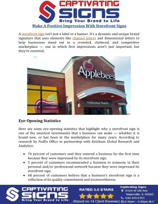 Make a Positive Impression with Storefront Signs