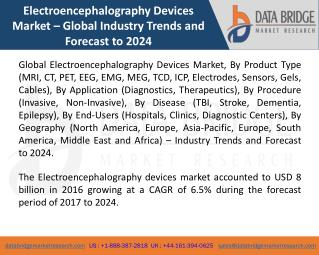 Global Electroencephalography Devices Market- Industry Trends and Forecast to 2024