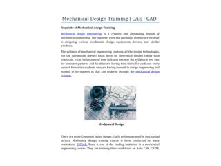 Mechanical Design Training Course