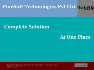 Complete web solution fineSoft technologies
