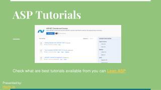 Learn ASP.NET - Best ASP.NET Tutorials | Hackr.io