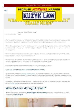 "What Does ""Wrongful Death"" Really Mean?"