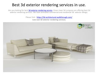 Best 3d exterior rendering services in use.