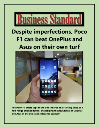 Despite imperfections, Poco F1 can beat OnePlus and Asus on their own turf