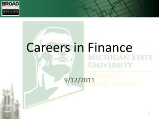 Careers in Finance