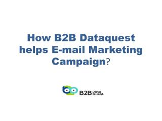 How b2b dataquest helps e mail marketing campaign