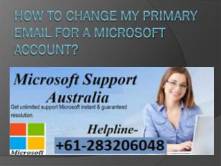 How to Change My Primary Email for a Microsoft Account?