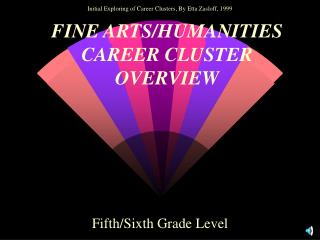 FINE ARTS/HUMANITIES CAREER CLUSTER OVERVIEW