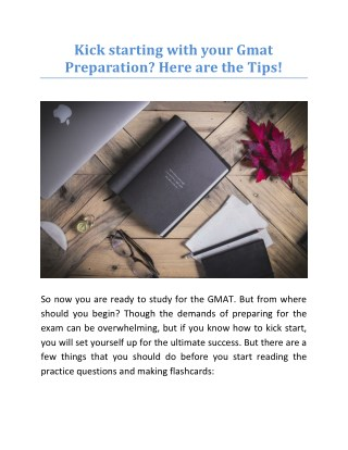 Kick starting with your Gmat Preparation