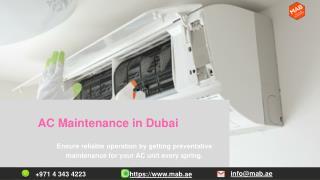 AC Maintenance in Dubai