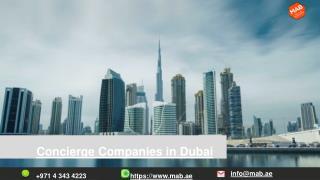 Concierge Companies in Dubai
