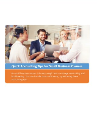 Quick Accounting Tips for Small Business Owners