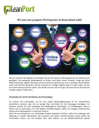 Wie man eine geeignete Werbeagentur in Deutschland wählt