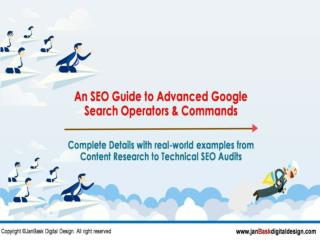 An SEO Guide to Advanced Google Search Operators & Commands