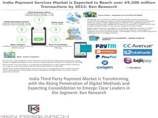 Payment Services Market in India, India Payment Services Industry,India Digital Payments Landscape,Rising Digital Paymen