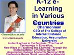 K-12 e-Learning  in Various Countries