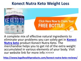 Konect Nutra Keto Perfect Weight Loss Pills