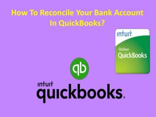 How To Reconcile Your Bank Account In Quickbooks?