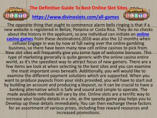 Not Known Facts About Best Online Slots Sites in the UK for 2018