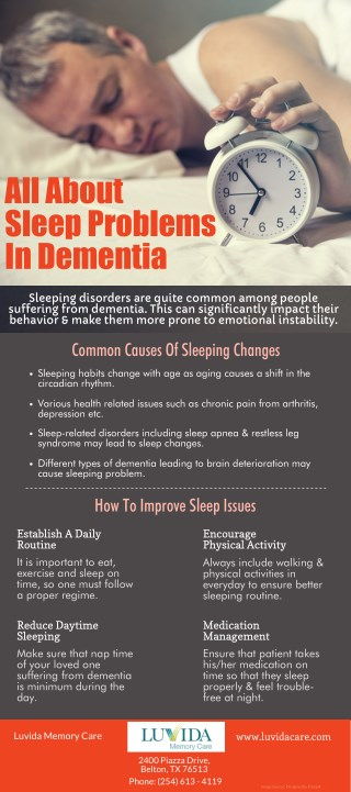 All About Sleep Problems In Dementia