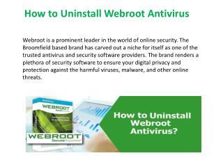 How to uninstall webroot antivirus via control panel