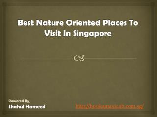 Best Nature Oriented Places To Visit In Singapore