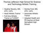 Thomas Jefferson High School for Science and Technology Athletic Training