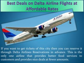 Best Deals on Delta Airline Flights at Affordable