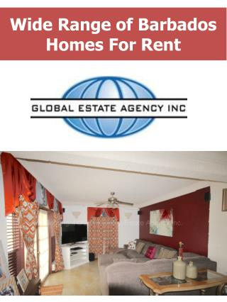 Wide Range of Barbados Homes For Rent