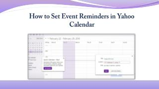 How to Set Event Reminders in Yahoo Calender