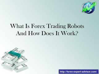 What Is Forex Trading Robots And How Does It Work