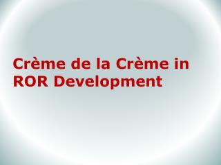 ROR Development Company
