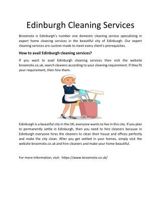 Edinburgh Cleaning Services