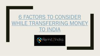 Money transfer to India