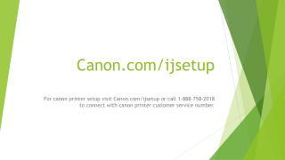 Canon.com/ijsetup | http://canon.com/ijsetup | Canon IjSetup
