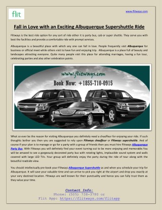 Fall in Love with an Exciting Albuquerque Supershuttle Ride
