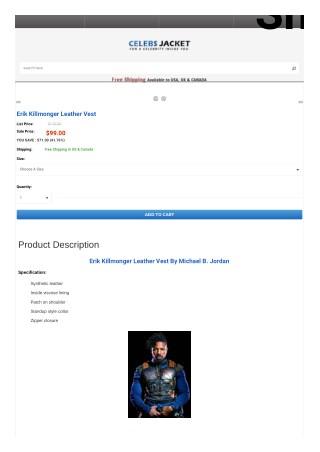 Erik Killmonger Leather Vest