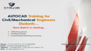 What more about the AutoCAD Training Program in Noida